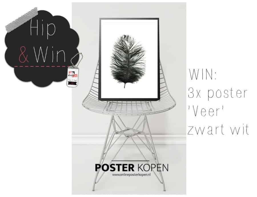 WIN: 3x poster Veer zwart wit van Online Poster Kopen