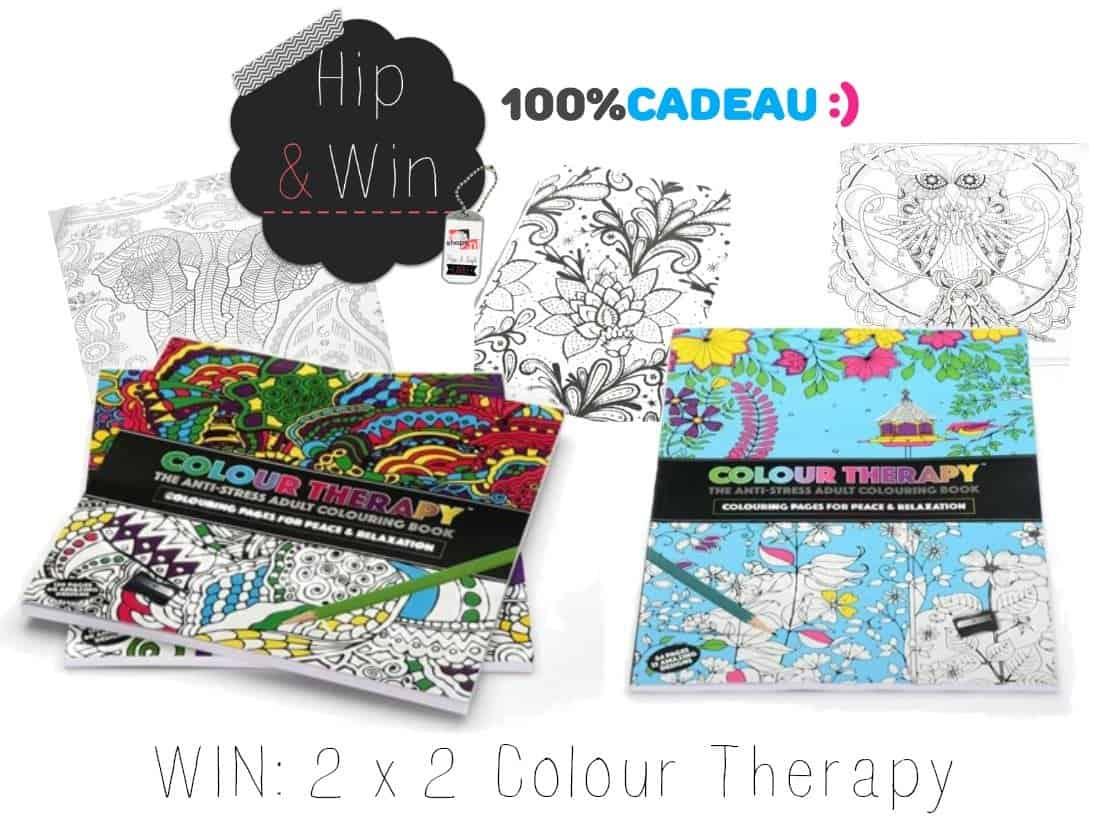 WIN: 2 x 2 Colour Therapy Kleurboeken voor volwassenen