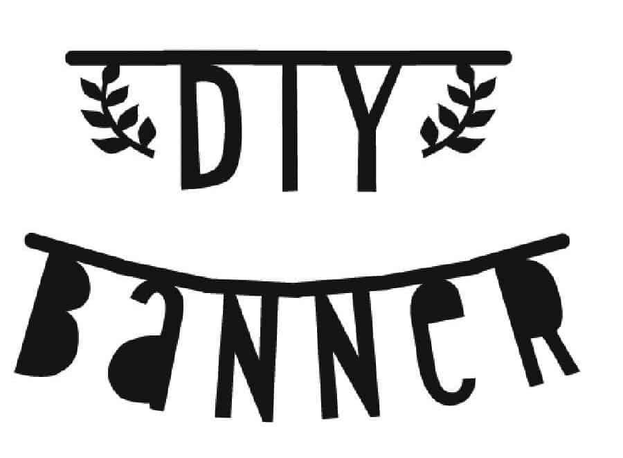 DIY letter banner zwart | Goodiebox Deluxe 2016