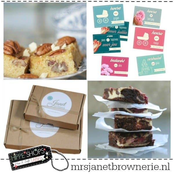 Mrs. Janet Brownerie: dé lekkerste brownies en blondies per post