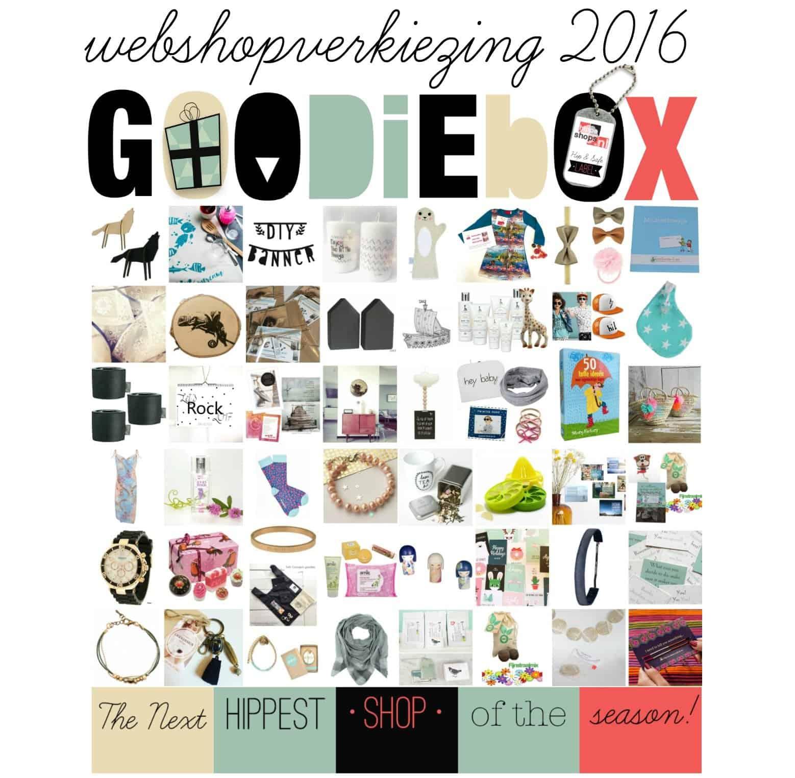 Stem op jouw favoriete webshop en win een Goodiebox Deluxe