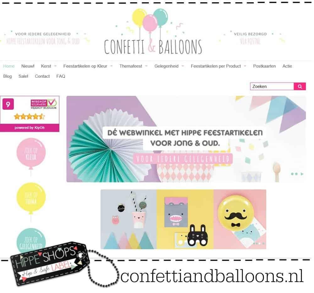 Confetti & Balloons – shop de laatste trends voor een hip feest