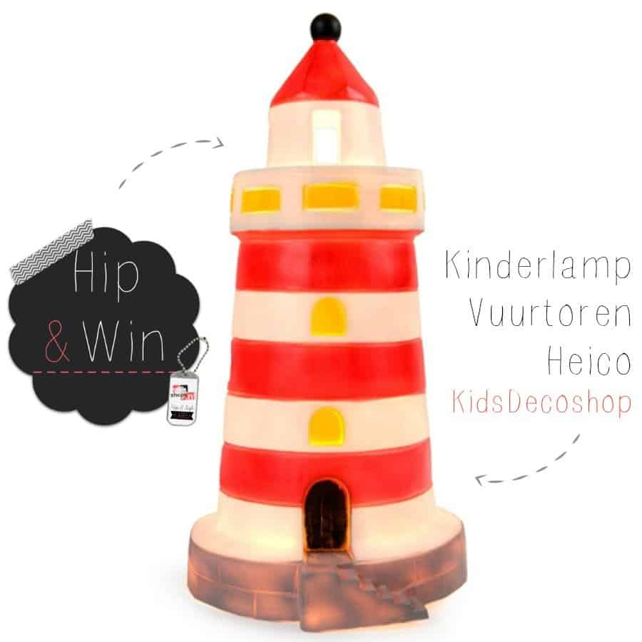 WIN: Heico Kinderlamp Vuurtoren van Kids Decoshop