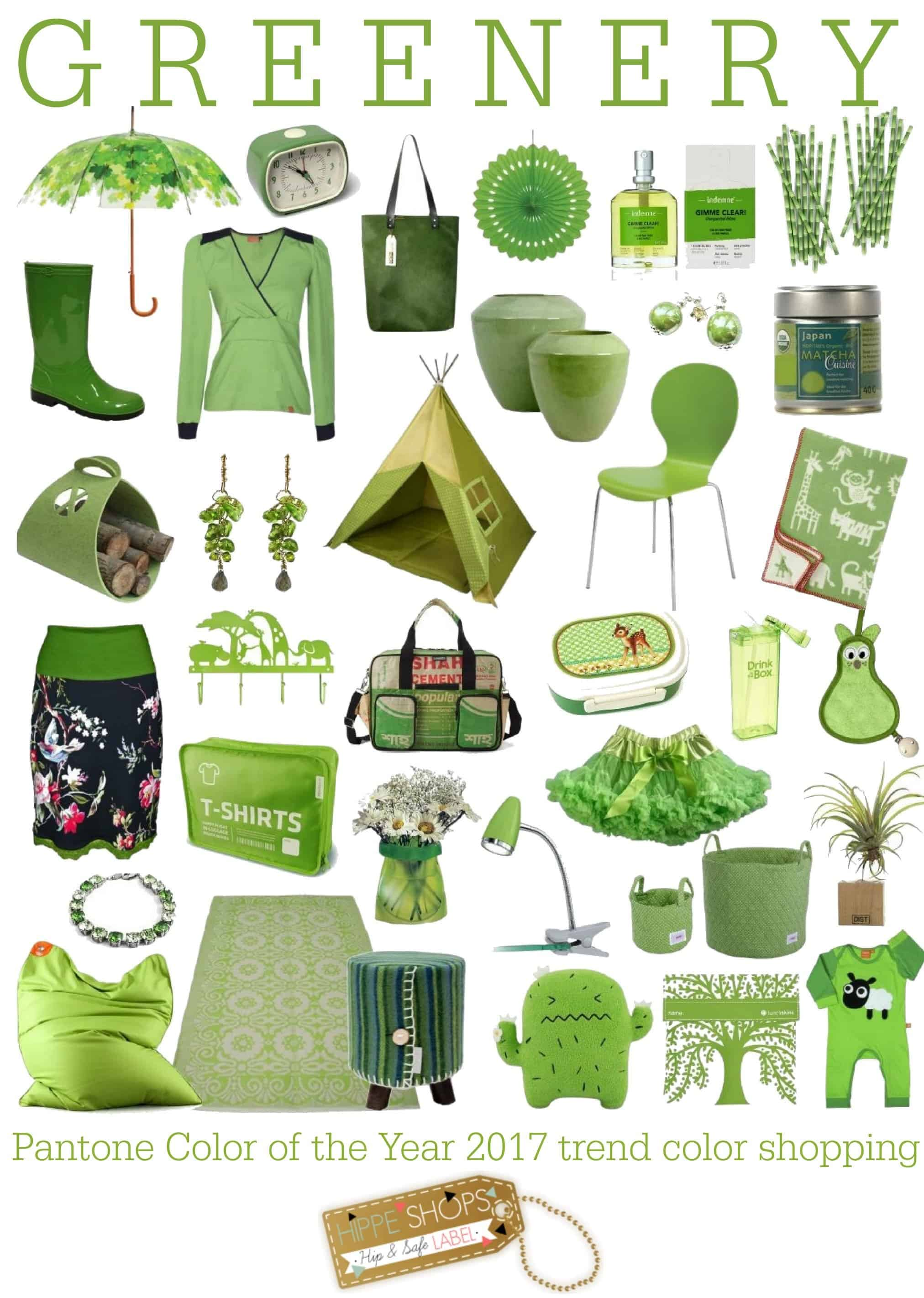 Greenery color shopping: Pantone 2017 trendkleuren