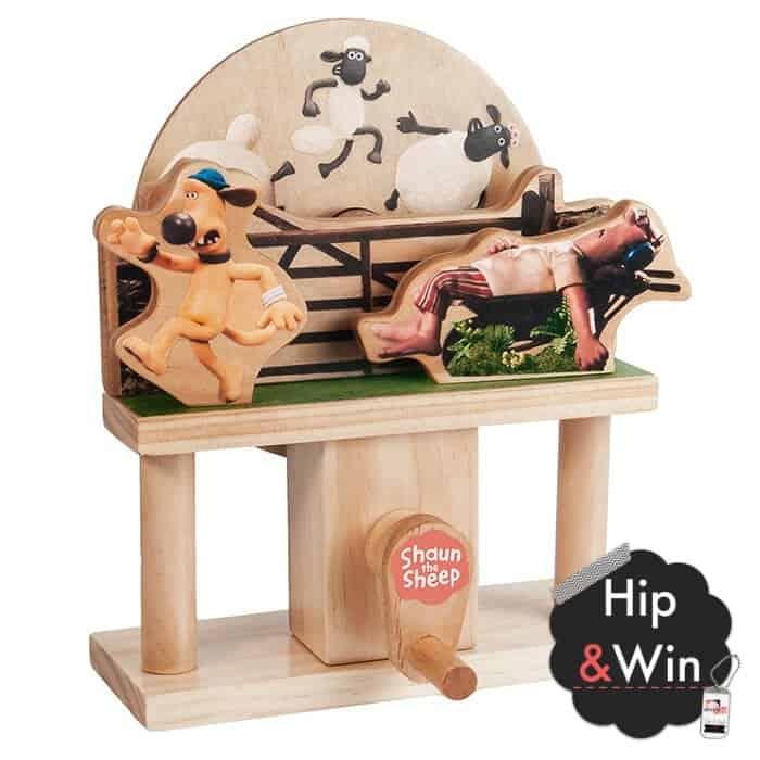 WIN: Mechanisch houten bouwset Shaun het Schaap