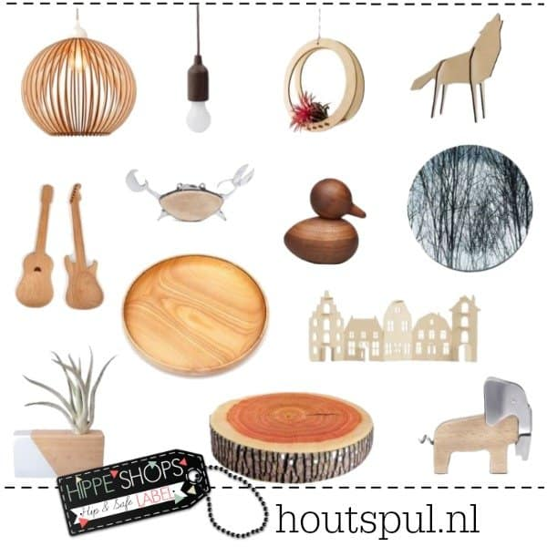 Houtspul – hippe houten accessoires en decoraties
