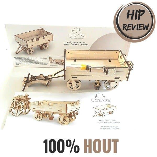 Review: mechanische bouwset van 100% HOUT