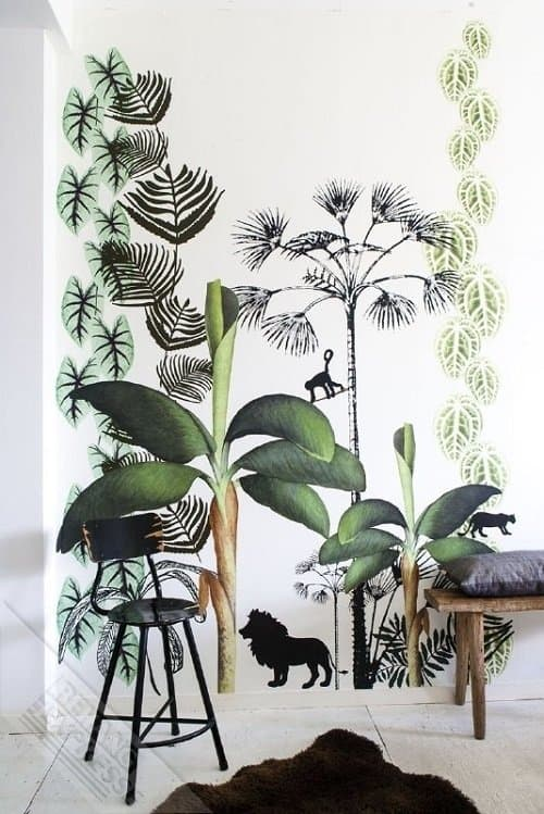 Dehuissleutel-interieur_behang_jungle_Hippeshops