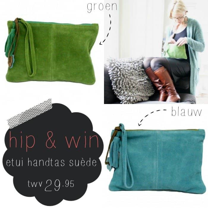 WIN: Etui handtas suède van Debby at Home
