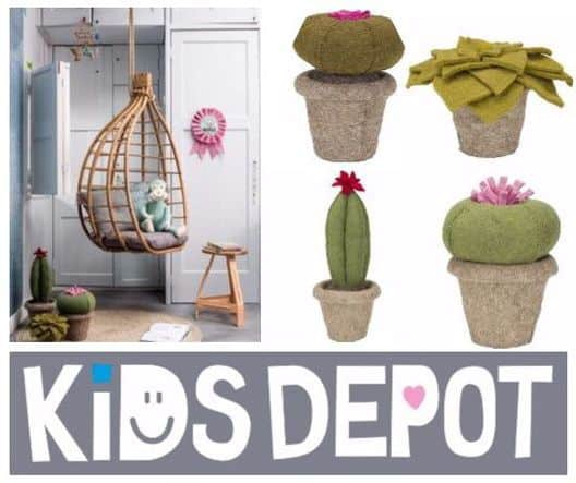 Cactussen van vilt voor baby- en kinderkamer van Kidsdepot