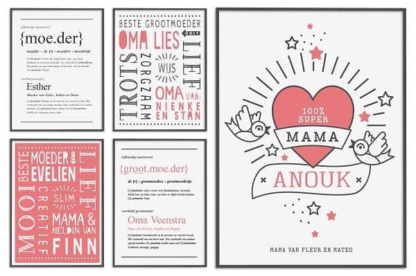 Cadeautip: gepersonaliseerde poster voor de liefste mama