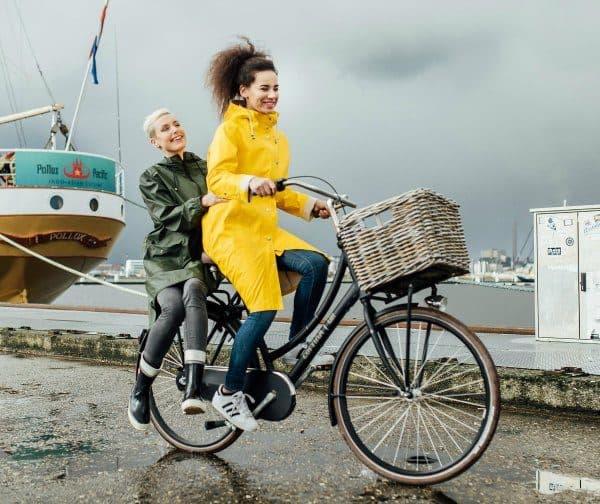 landelijke fiets naar je werk dag