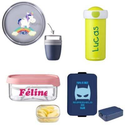 Mepal met naam: ontwerp zelf jouw unieke lunchbox, schoolbeker of drinkfles