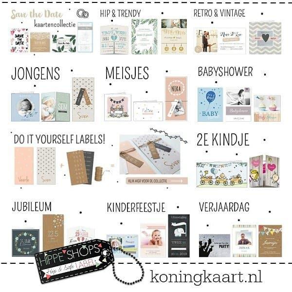 Koningkaart: zelf kaarten maken! Geboortekaarten, trouwkaarten en uitnodigingen