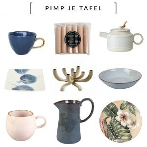 Pimp Je Tafel Tafelen in eigen stijl! Opvallend mooie en betaalbare serviezen, stijlvol tafellinnen en accessoires om je tafel te 'pimpen'.