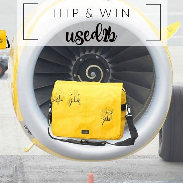 WIN: Used2b hippe upcycled reddingsvest tas
