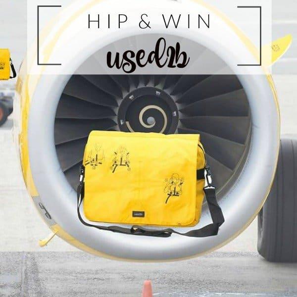 WIN: Used2b hippe upcycled reddingsvest tas