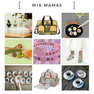 Mixmamas Kleurrijke producten om vrolijk van te worden: hip tafelzeil, nostalgische Spaanse schoenen, vrolijke verzorgingstassen, ruige fietstassen, bonfim gelukslinten en het duurzame label Used2b.