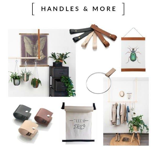 Welkom in de wereld van leren handgreepjes en meer. Handles and More is een hippe online shop met de mooiste trendywoonaccessoires van echt leder. Nu ook op HippeShops.nl