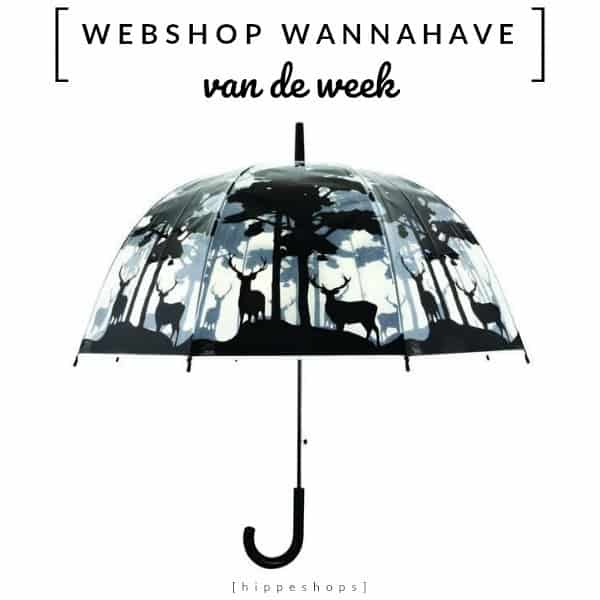 Transparante Paraplu Bos – Webshop Wannahave van de Week
