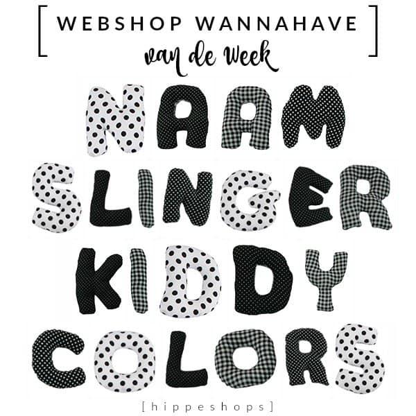 Zwart-Wit Naamslinger – Webshop Wannahave van de Week