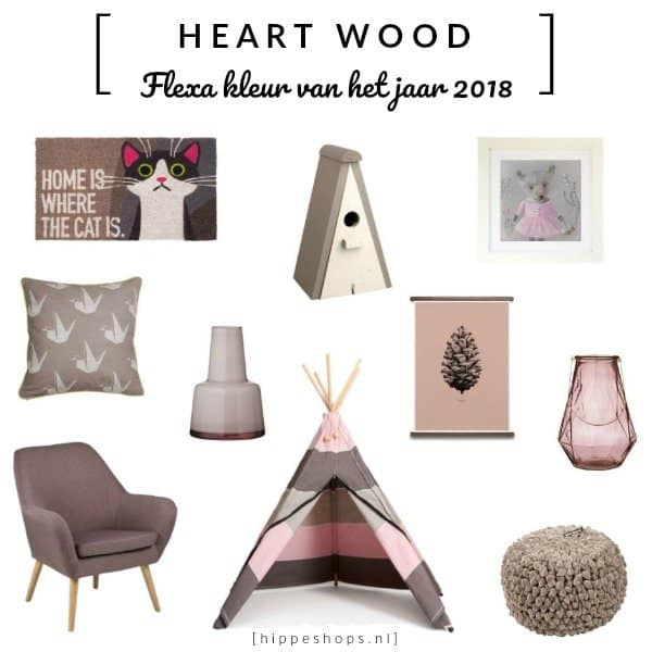 Heart Wood color shopping: Flexa trendkleur 2018