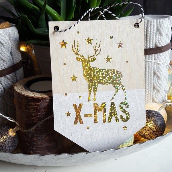 Sfeervolle kerstdecoratie bij Ilse-stickerdesign