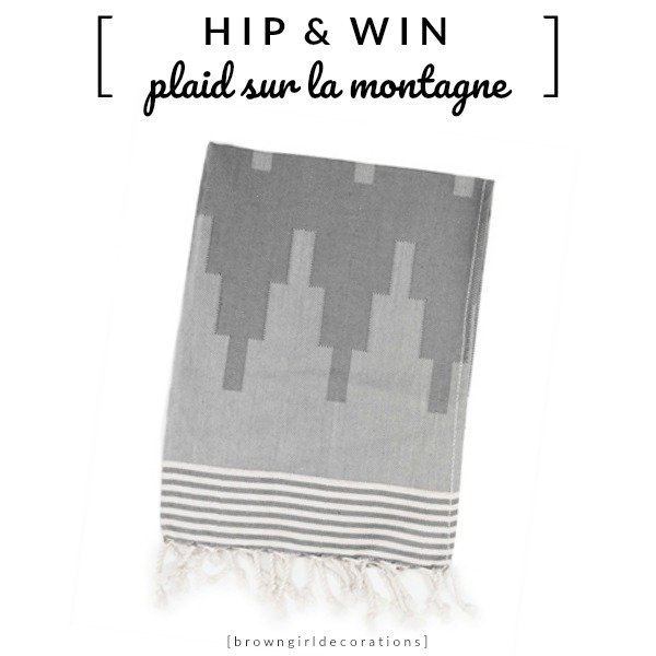 WIN: Plaid Sur la Montagne Grey van House of Rym