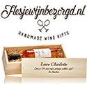 Banner van http://flesjewijnbezorgd.nl/ op www.hippeshops.nl