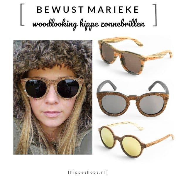 Woodlooking hippe zonnebrillen