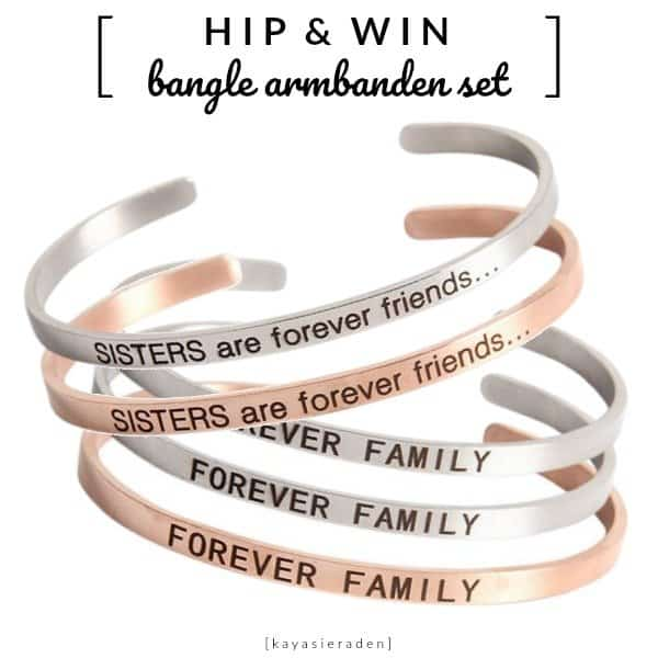 WIN: Bangle set armbanden (2 stuks) €28,90 voor jou en je vriendin