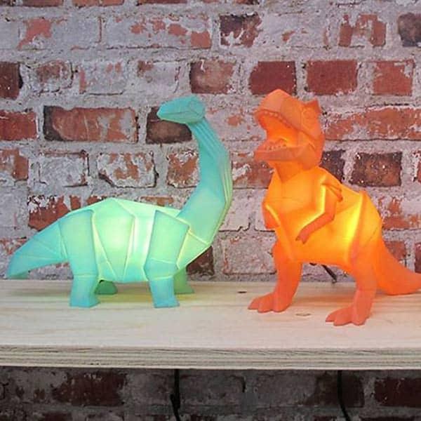 disaster designs nachtlampje kinderkamer dino origami