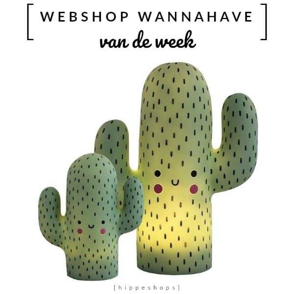 Cactus nachtlampje kawaii voor een hippe kinderkamer [Webshop Wannahave van de Week]