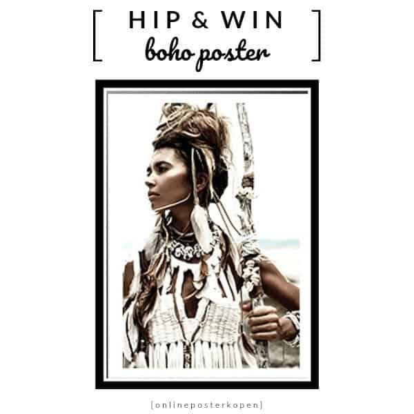 WIN: Boho Poster A3 (2x) met Native American van Online Poster Kopen