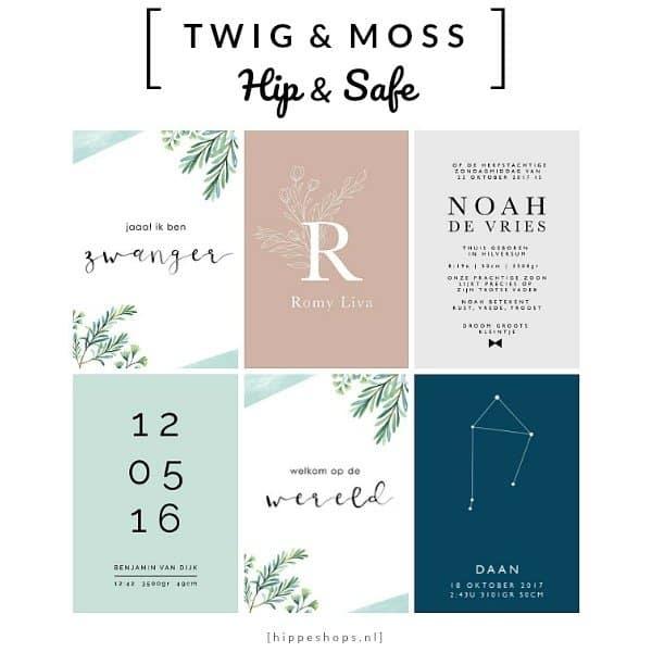 TWIG & MOSS - milestonecards en geboorteposters
