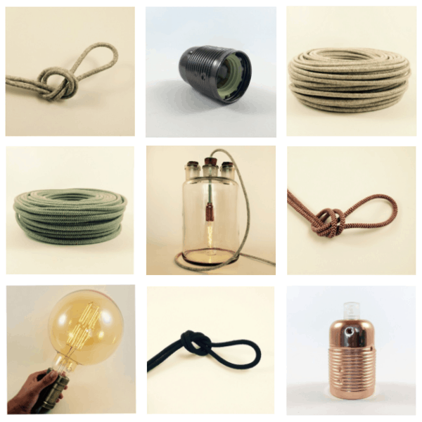 Lampen stel je eigen lamp samen bij Lichtbeurs - Hippeshops