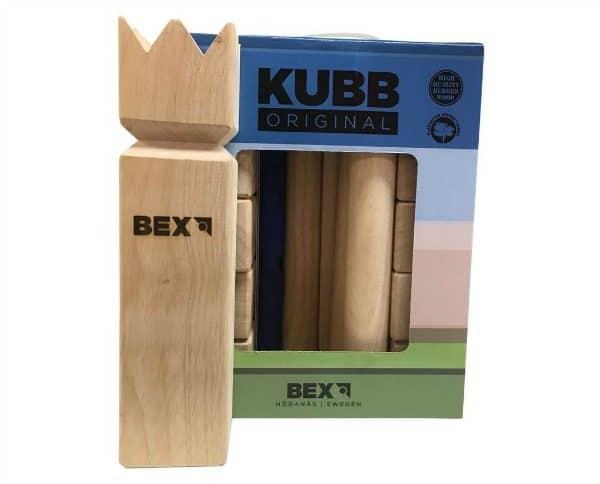 Kubb Original houten buitenspeelgoed set met opbergtas van Trendy Speelgoed