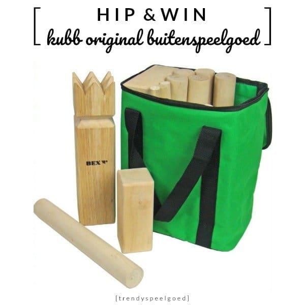 Kubb Original houten buitenspeelgoed set met opbergtas