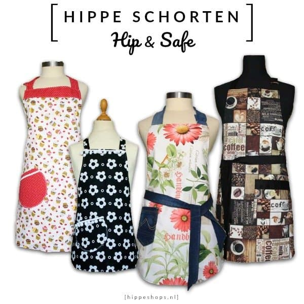 HIPPE SCHORTEN – 100% handgemaakte keukenschorten voor groot en klein