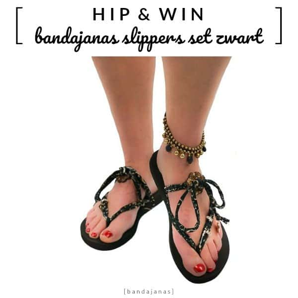 WIN: Bandajanas Quickies kant-en-klare slipperset in zwart