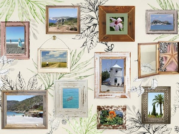 fotocollage vakantie op canvas - easycollage - hippeshops