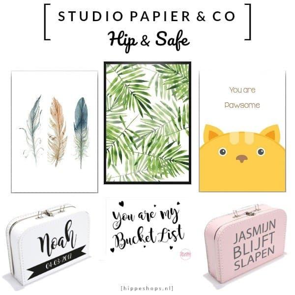 STUDIO PAPIER & CO Posters, Kaarten en Koffertjes