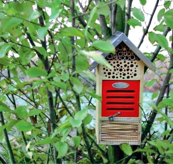 insectenhotel vogelhuisjes diervriendelijke tuin