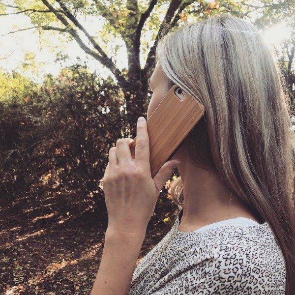 Woodlooking houten telefoonhoesjes