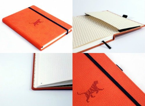 Back to School Shopping Special wildlife orange bullet journal