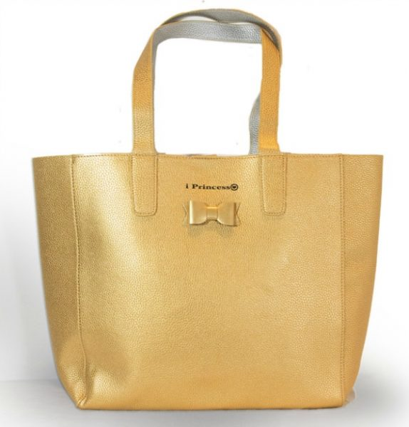 i Princess shopper metallic goud