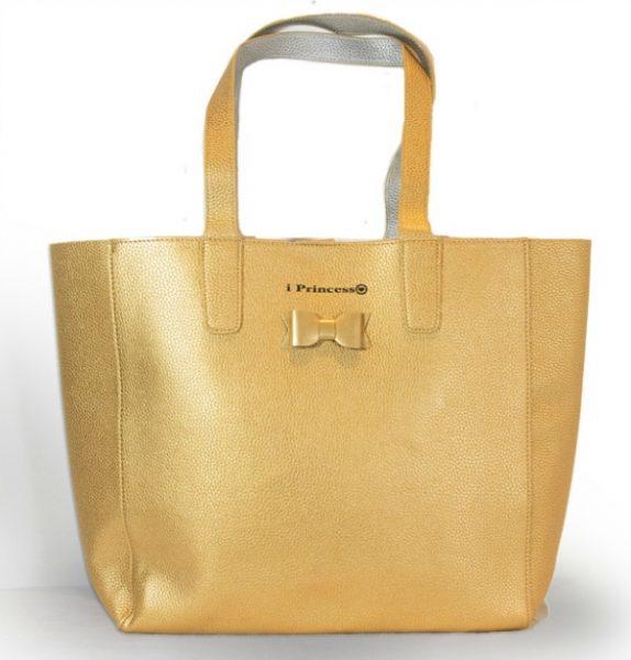 i Princess shopper metallic goud