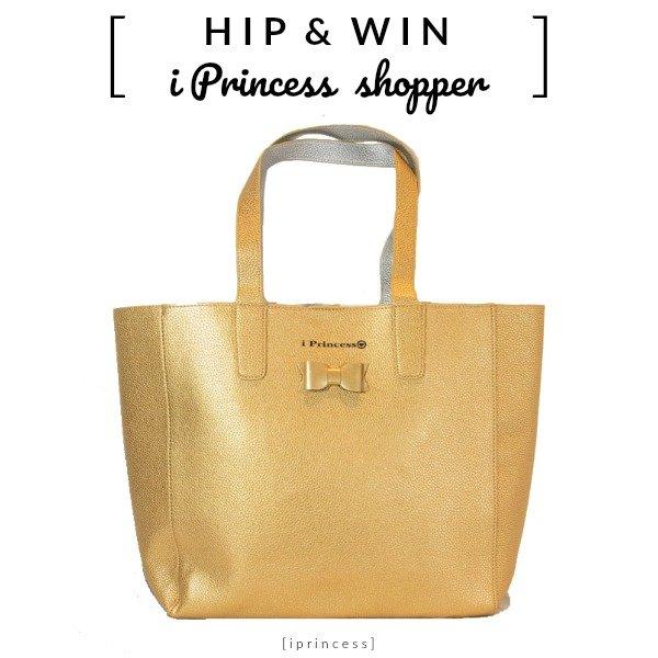 i Princess shopper XL schoudertas metallic goud