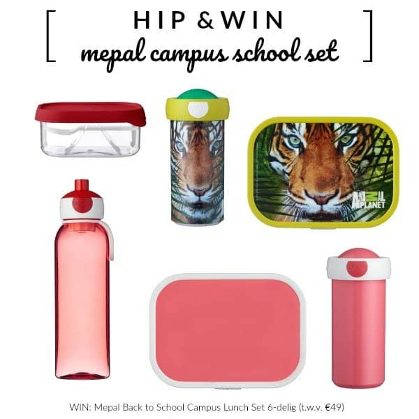 WIN: Mepal Back to School Campus Lunch Set 6-delig (t.w.v. €49)