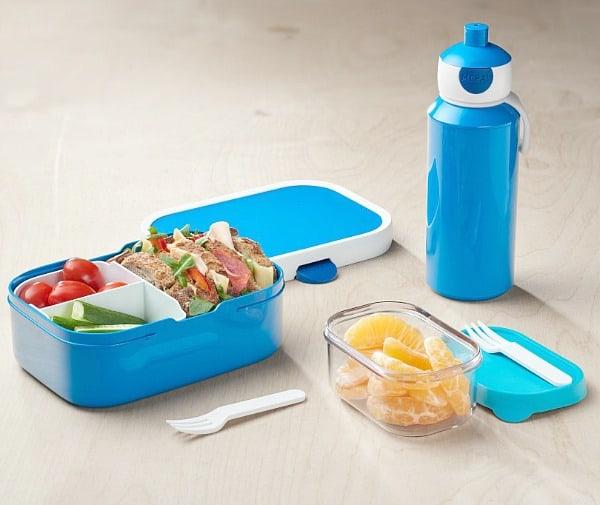 Back to School lunch Campus serie in blauw, uitgebreid met Fruitbox Take a Break